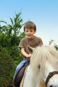 Boy with pony